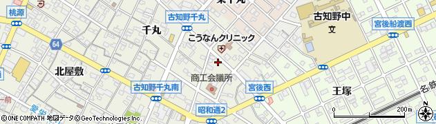 愛知県江南市古知野町(小金)周辺の地図