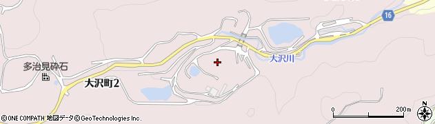 岐阜県多治見市大沢町周辺の地図