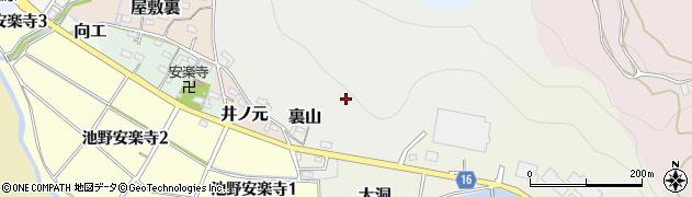 愛知県犬山市裏山周辺の地図