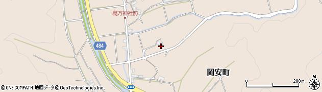 京都府綾部市中筋町(西ノ岡)周辺の地図