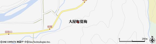 兵庫県養父市大屋町夏梅周辺の地図