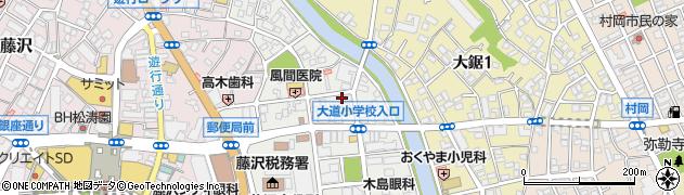 神奈川県藤沢市朝日町周辺の地図