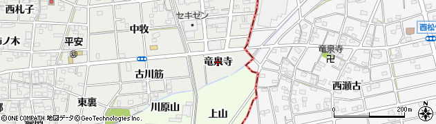愛知県一宮市浅井町小日比野(竜泉寺)周辺の地図