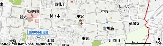 愛知県一宮市浅井町小日比野(堤南ノ切)周辺の地図