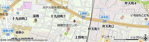 岐阜県多治見市上野町周辺の地図