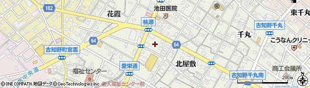愛知県江南市古知野町(桃源)周辺の地図