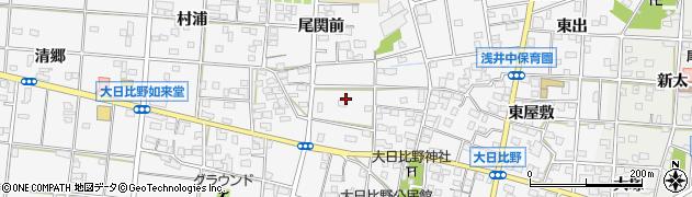 愛知県一宮市浅井町大日比野周辺の地図