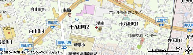 岐阜県多治見市十九田町周辺の地図