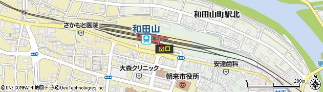 兵庫県朝来市周辺の地図