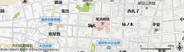 愛知県一宮市浅井町小日比野(新太)周辺の地図