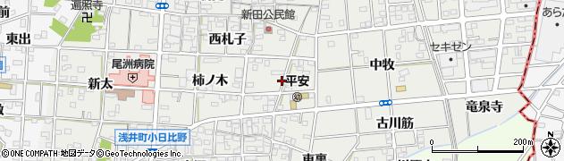愛知県一宮市浅井町小日比野(札子)周辺の地図