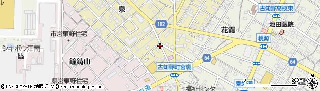 愛知県江南市飛高町(泉)周辺の地図