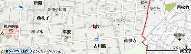 愛知県一宮市浅井町小日比野(中牧)周辺の地図