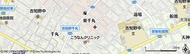 愛知県江南市野白町(東千丸)周辺の地図