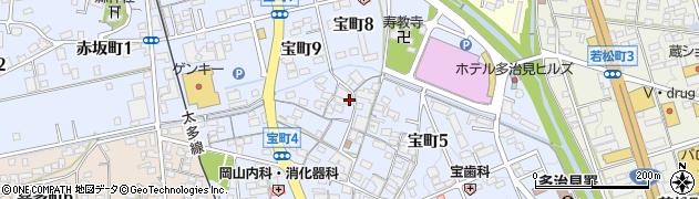 岐阜県多治見市宝町周辺の地図