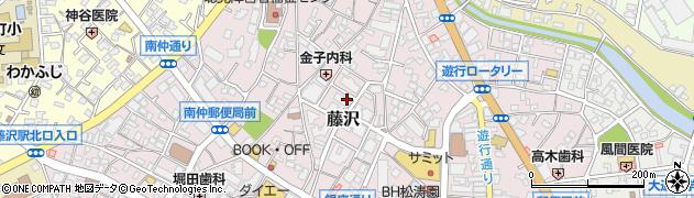 神奈川県藤沢市藤沢周辺の地図