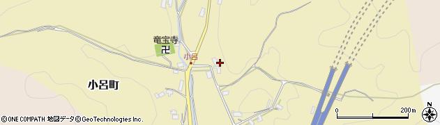 京都府綾部市小呂町(梨貝)周辺の地図