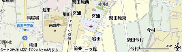 愛知県犬山市宮浦周辺の地図