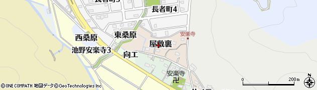 愛知県犬山市屋敷裏周辺の地図