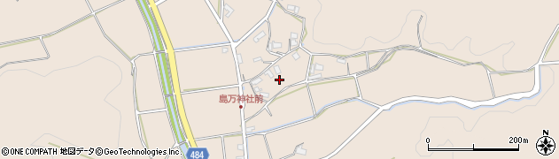 京都府綾部市中筋町(鶴ケ岡)周辺の地図