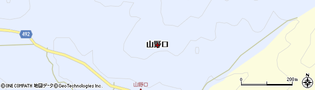 京都府福知山市山野口周辺の地図