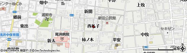 愛知県一宮市浅井町小日比野(西札子)周辺の地図