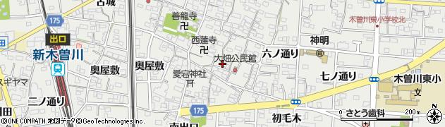 愛知県一宮市木曽川町黒田(東町南)周辺の地図