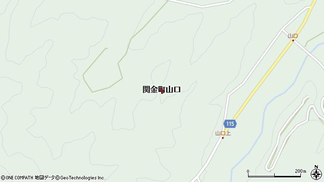〒682-0412 鳥取県倉吉市関金町山口の地図
