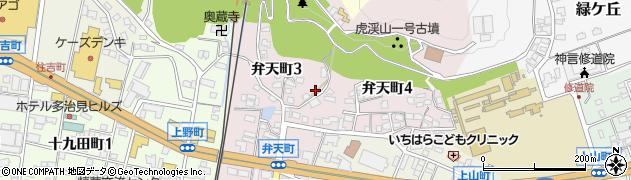 岐阜県多治見市弁天町周辺の地図