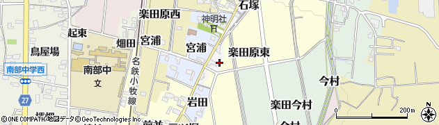 愛知県犬山市天王前周辺の地図
