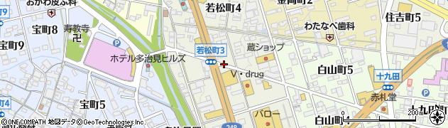 岐阜県多治見市若松町周辺の地図