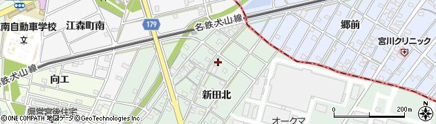 愛知県江南市前野町(新田北)周辺の地図
