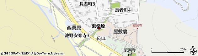 愛知県犬山市東桑原周辺の地図