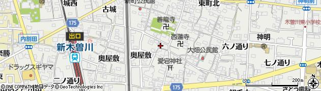 愛知県一宮市木曽川町黒田(西町南)周辺の地図