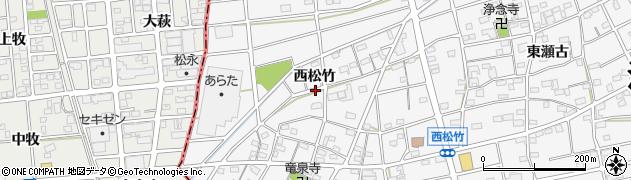 愛知県江南市松竹町(西松竹)周辺の地図