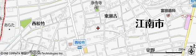 愛知県江南市松竹町(東瀬古)周辺の地図