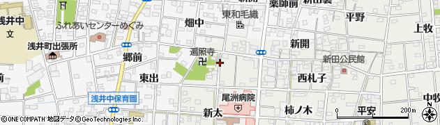 愛知県一宮市浅井町小日比野(天神西)周辺の地図