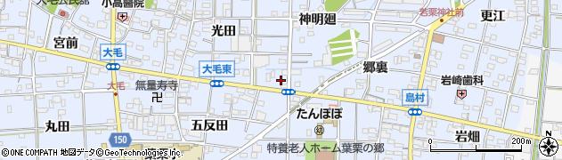 愛知県一宮市大毛(小松寺東)周辺の地図