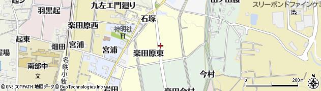 愛知県犬山市楽田原東周辺の地図