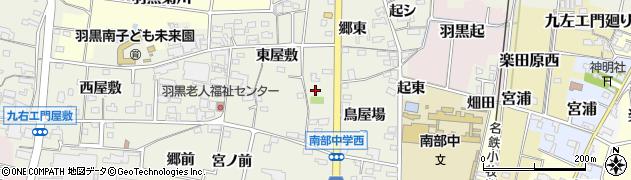 愛知県犬山市羽黒新田周辺の地図