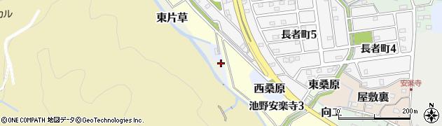 愛知県犬山市西桑原周辺の地図