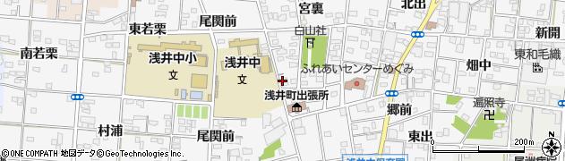 愛知県一宮市浅井町前野(郷西)周辺の地図