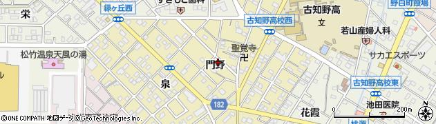 愛知県江南市飛高町(門野)周辺の地図