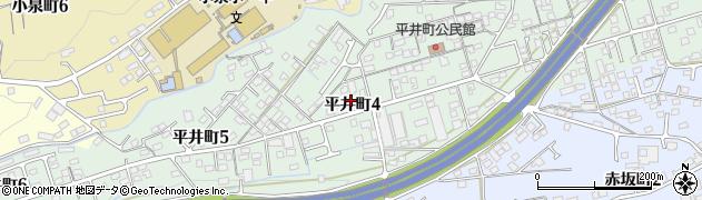 岐阜県多治見市平井町周辺の地図