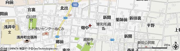 愛知県一宮市浅井町前野周辺の地図