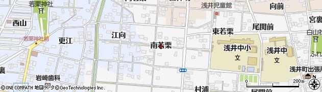 愛知県一宮市浅井町大日比野(南若栗)周辺の地図