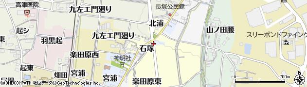 愛知県犬山市石塚周辺の地図