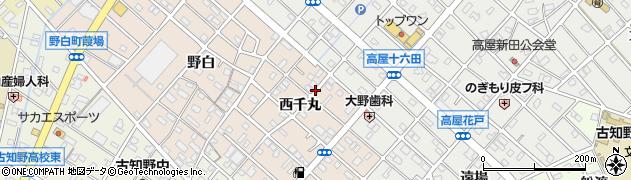 愛知県江南市野白町(西千丸)周辺の地図