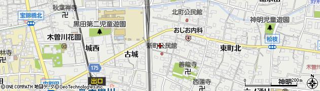 愛知県一宮市木曽川町黒田(城東)周辺の地図