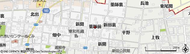 愛知県一宮市浅井町前野(薬師前)周辺の地図